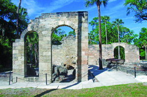 A photo of the remains of an old fort at New Smyrna Beach