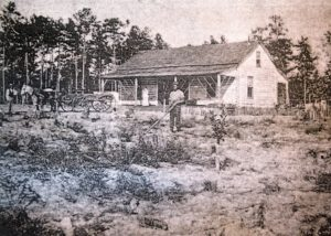 A photo of the Rich Log Cabin