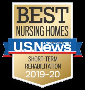 Best Nursing Homes by U.S. News & World Report for Short-Term Rehabilitation 2019-20 award icon