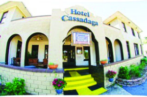 A fisheye lens photo of Hotel Cassadaga