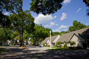 A photo of the gated community at the John Knox Village of Central Florida senior living community
