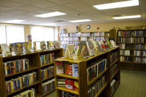 A bookstore of lirbary