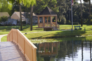 A photo of the gfazebo and pond at the John Knox Village of Central Florida
