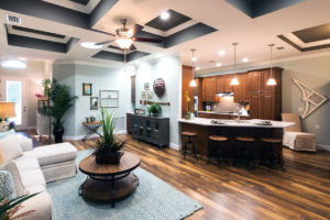 Photo of a kitchen and dining area in a senior living home at the john Knox Village of Central Florida