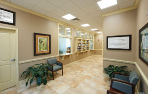 A photo of the pharmacy and waiting area at the John Knox Village at Central Florida