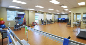 The fitness and workout room at the John Knox Village of Central Florida