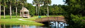 A photo of the water and walking paths around the John Knox Village of Central Florida senior living community