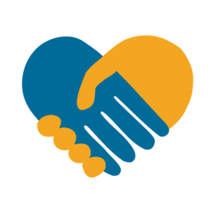 An icon where two hands grasp each other to form a heart shape