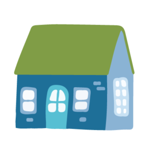 A drawing of a house