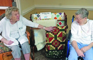 Resident Dorothy Vogt showcases her quilting skills