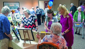 A photo of the community event of residents showcasing their skills