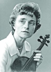 A photo of Rosemary Malocsay, a violin virtuoso