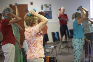 Seniors lighting weights